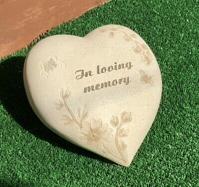 "Memorial Heart ""In Loving Memory"" with Butterflies and Flowers Memorial Ornament"