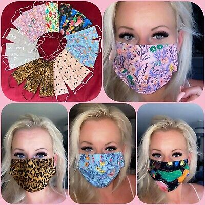 Face Mask 100% Cotton handmade With Filter Pocket