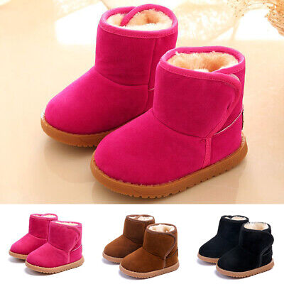 Winter Children Kids Ankle Boots Snow Boy Girl Baby Warm Fur Shoes Toddler Boots