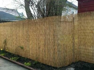 Natural Peeled Reed Screening Roll Garden Screen Fence Fencing Panel Wooden New
