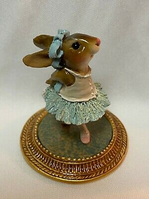Wee Forest Folk Retired Blue Rabbit Dancer