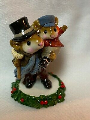 Wee Forest Folk Retired Bob Cratchit and Tiny Tim