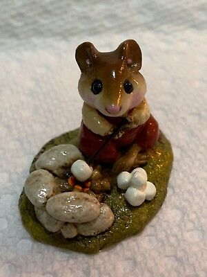 Wee Forest Folk Retired Camp Fire Mouse
