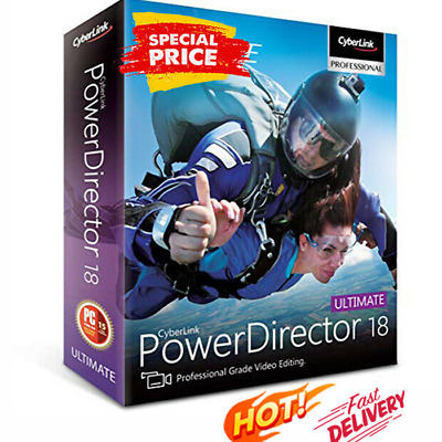 CyberLink PowerDirector Ultimate 18 🔥 Genuine Life time License   FAST DELIVERY
