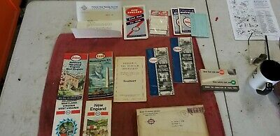 Vintage 1938 to 60's Esso Gas & Oil Touring Service Trip Pack Maps New England