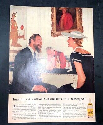 Life Magazine Ad SCHWEPPES Quinine Water reverse JELL-O 1956 AD