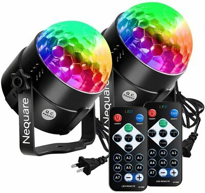 4x Party Light Disco Ball Strobe 20-Color Sound Activated Electronic Dance Light