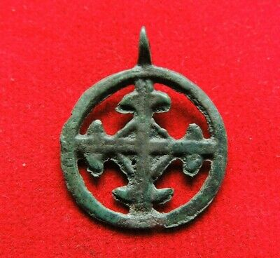 Ancient Bronze Viking Cross Pendant