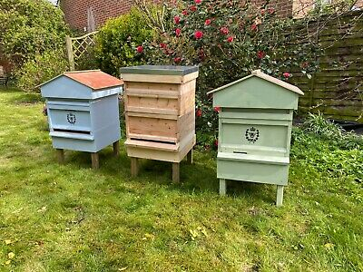 Lovely new Hand Made British National Bee Hive Gabled Roof
