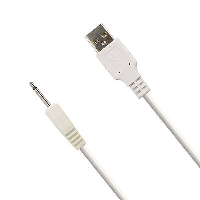 2.5mm DC Jack to USB Charger Cable Lead for Rechargeable Massager Wand