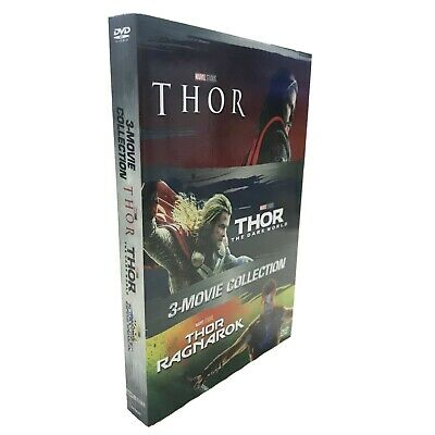 Thor 1-3 DVD 3 Film Movie Collection DVD Box Set Brand New Sealed Fast Shipping