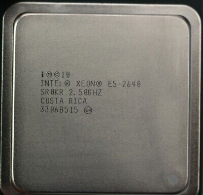 Intel Xeon E5-2640 2.50GHz 6 core LGA 2011 15 MB L3 cache Server CPU SR0KR
