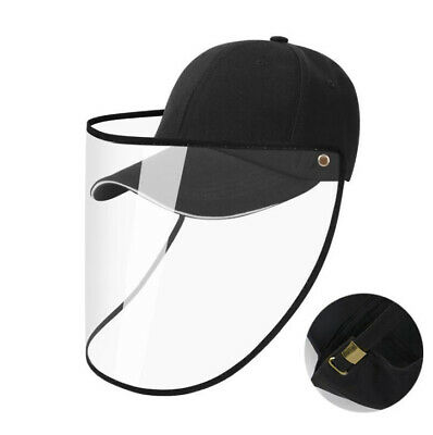 Safety Face Shield Protective Hat Detachable Baseball Cap Adjustable Unisex