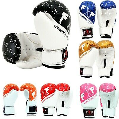 Kids Boxing Gloves 4-6oz Junior Punching Training Mitts MMA Sparring Gloves