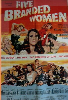 Five Branded Women Vera Miles One page original Movie poster