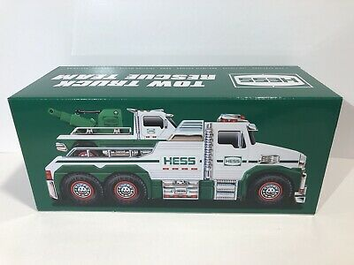 NEW Hess 2019 White Toy Tow Truck Rescue Team MINT