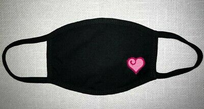 1 Face Mask Reusable Two Layers Soft Cotton Washable Black  Pretty heart gift