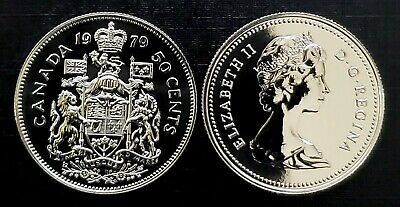 Canada 1979 Round Bust Proof Like Gem Fifty Cent Piece!!