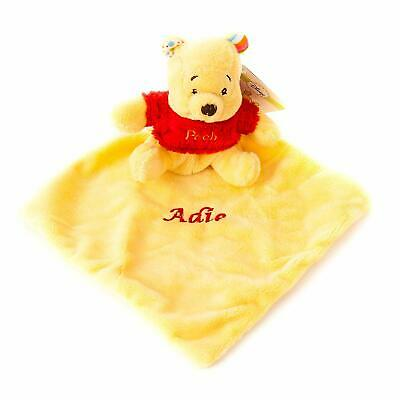 Personalised Embroidered Baby Pooh Comforter Baby Toy Newborn Blankie Blanket
