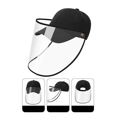 Anti-Saliva Full Face Shield Baseball Cap Hat Cover Glasses Water Droplets Work