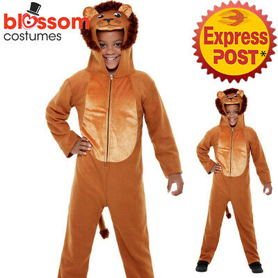 CK1681 Lion King Costume Kids Animal Book Week Jumpsuit Hood Girls Boys Costume