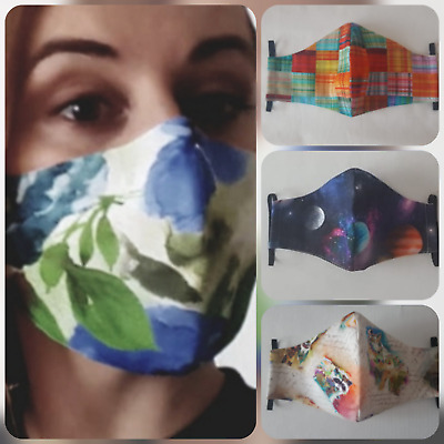 Face mask filter PM2.5 mouth mask filter pocket nose wire 3 layers cotton madeUK