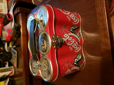 Vintage Coke 6-pack lunch box collectible tin - Nice Collectible Item