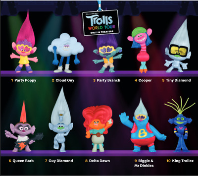 Trolls 2 McDonald's Happy Meal Toys Pick Your Toy!