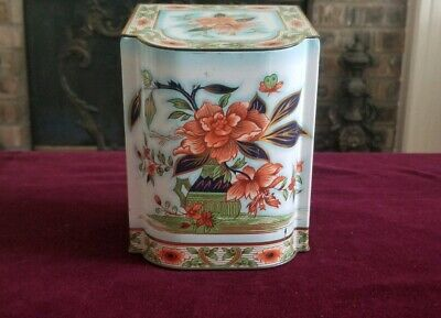 Vintage Daher Floral Tea Tin with Hinged Lid Metal Made in England