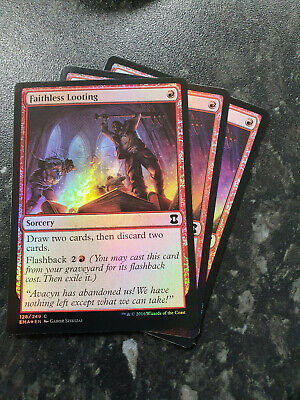 1x Faithless Looting MTG Ultimate Masters Fresh From Packs