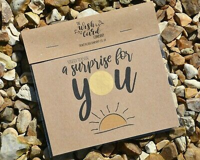 Scratch Card Surprise Sun Personalised Holiday Destination Any Message Reveal