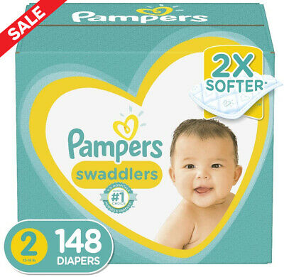 Diapers Size 2, 148 Count - Pampers Swaddlers Disposable Baby Diapers, Enormous