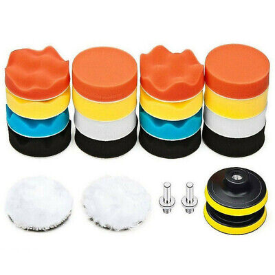 22 Pcs 3 inch Buffing Sponge Polishing Pad Kit Waxing Car Auto Polisher Use