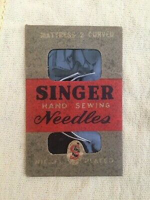 Vintage Singer Hand Sewing Needles Mattress and Curved Needles 2 New In Package