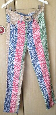 Ladies Vintage/Retro 90's Patterned Striped Trousers Size 8