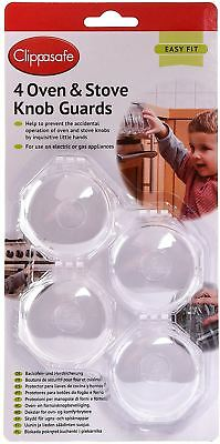 Clippasafe Oven & Stove Cooker 4 Knob Guards Child Baby Proofing Safety