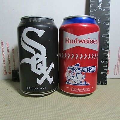 Chicago White Sox 2020 Goose Island Budweiser empty 12oz beer 2 can LOT MLB