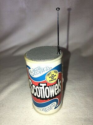 SCOTTOWELS AM FM RADIO 1931-1991 60 YEARS OF VALUE Novelty Promotional Clean