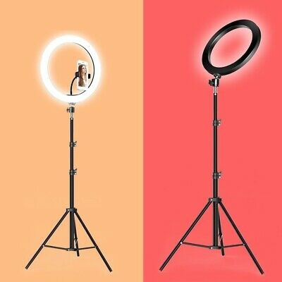 Makeup Ring Light LED Dimmable Camera Photography Tripod Lamp Selfie VK Phone