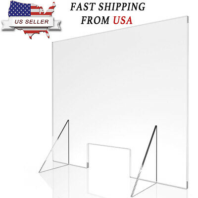 Sneeze Guard - Acrylic Divider PROTECTION Barrier SHIELD CHECKOUT COUNTER Desk