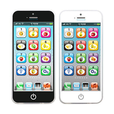 Toy Cellphone LED Phone English Learning Kids Early Educational Mobile Phone US