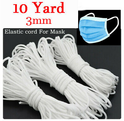 10//50//100//200 Yards Braided Elastic Band Cord Knit 3mm 6mm Stretch DIY Sewing