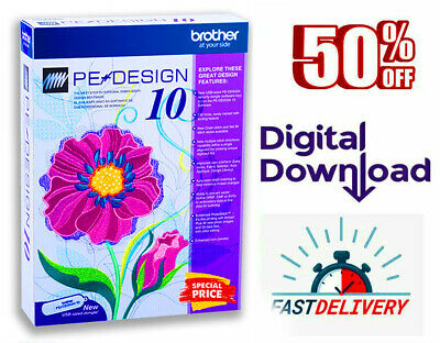 Brother PE Design 10 | Embroidery Full Software 2020 🔥 Free Gifts 🔥 5s DELIVRY