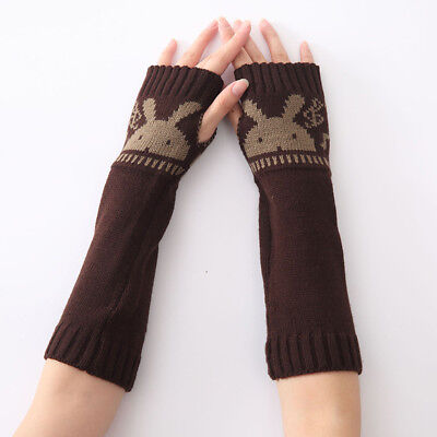 Gloves Knitted Long Warmer Glove Wool Fingerless Glove Fashion Finger Unisex 6T