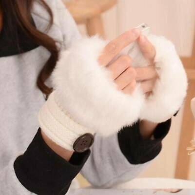 Casual Gloves Knitted Glove Fashion Cute Warm Female Lovely Girl Fingerless 6T