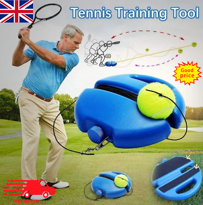 Solo Tennis Trainer Training Practice Rebound Balls Back Base Tool with Ball UK