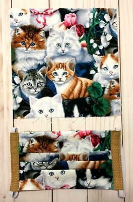 Handmade Face Mask Double Layer Fabric  Assorted Cute Kittens!!  Washable!!