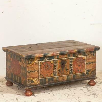 Antique Original Hand Painted Trunk, Germany 1774