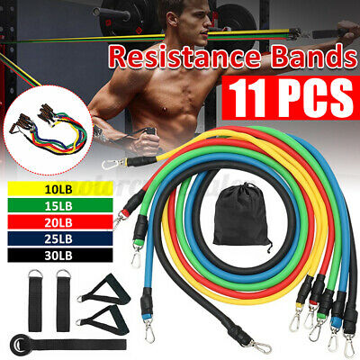Fitness Rubber Exercise Pull Rope Tube Resistance Elastic Yoga Gym Band
