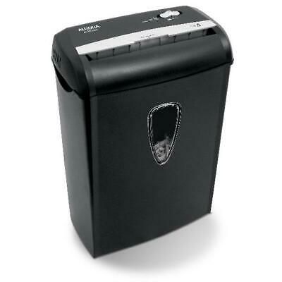 Aurora 8-Sheet Cross-Cut Paper Shredder, Black Office
